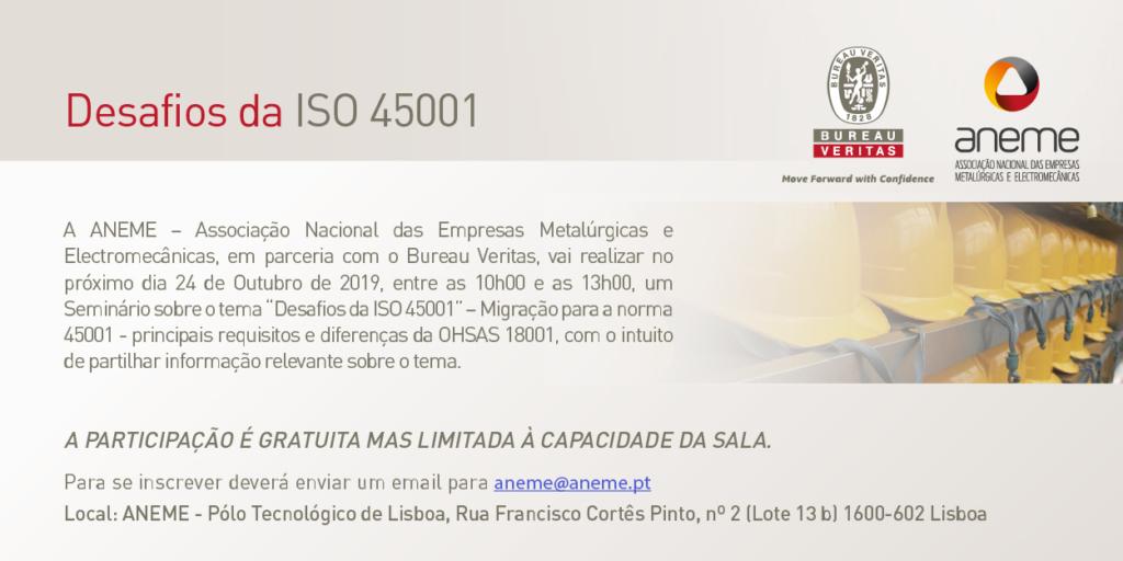 Seminário | Migração para a Norma ISO 45001
